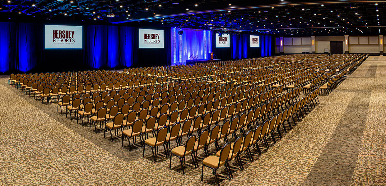 Great American Hall set up for large meeting space event room