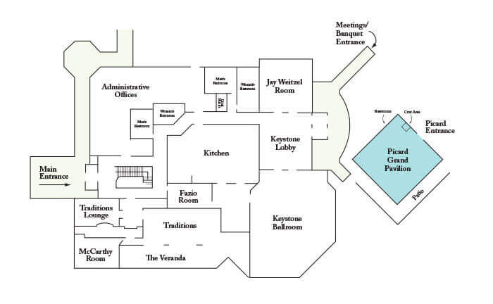 Floorplan of Picard Grand Pavilion at Hershey Country Club