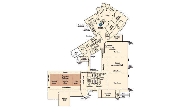 Floorplan of Hershey Lodge