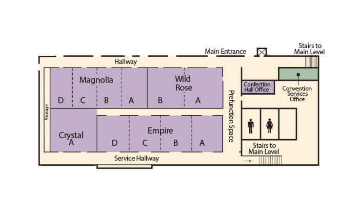 Map of Confection Hall Floorplan