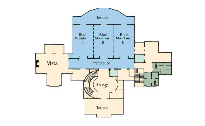 Map of Blue Mountain Room Floorplan