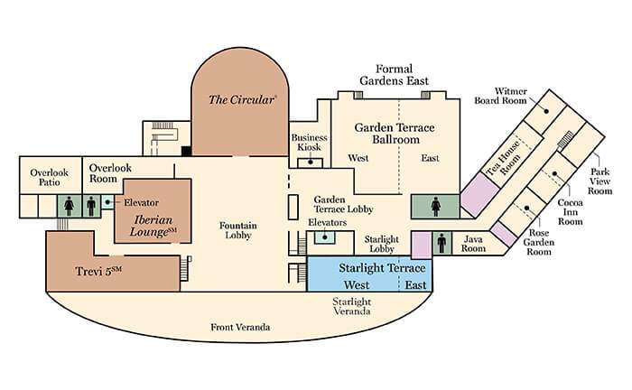 Floorplan of the hotel hershey