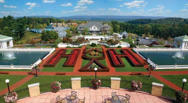 The Formal Gardens at The Hotel Hershey